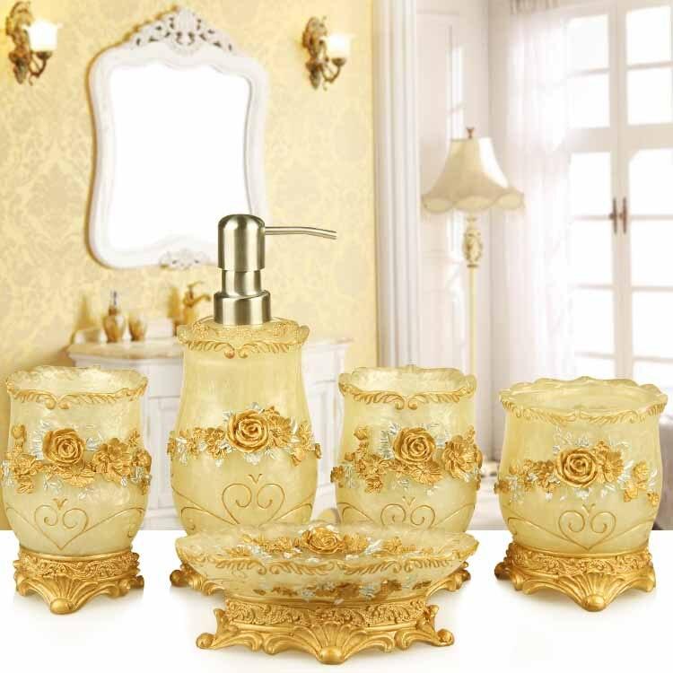 Mode qualité résine salle de bain cinq pièces ensemble sanitaire kit salle de bain lavage ensemble salle de bain ensemble