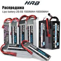 HRB-batería Lipo 2S 3S 4S 6S, 11,1 v, 22,2 mah, 5000mah, 6000mah, 3300mah, 2200mah, 4200mah, 5200mah, 7000mah, XT60-T, enchufe decanos