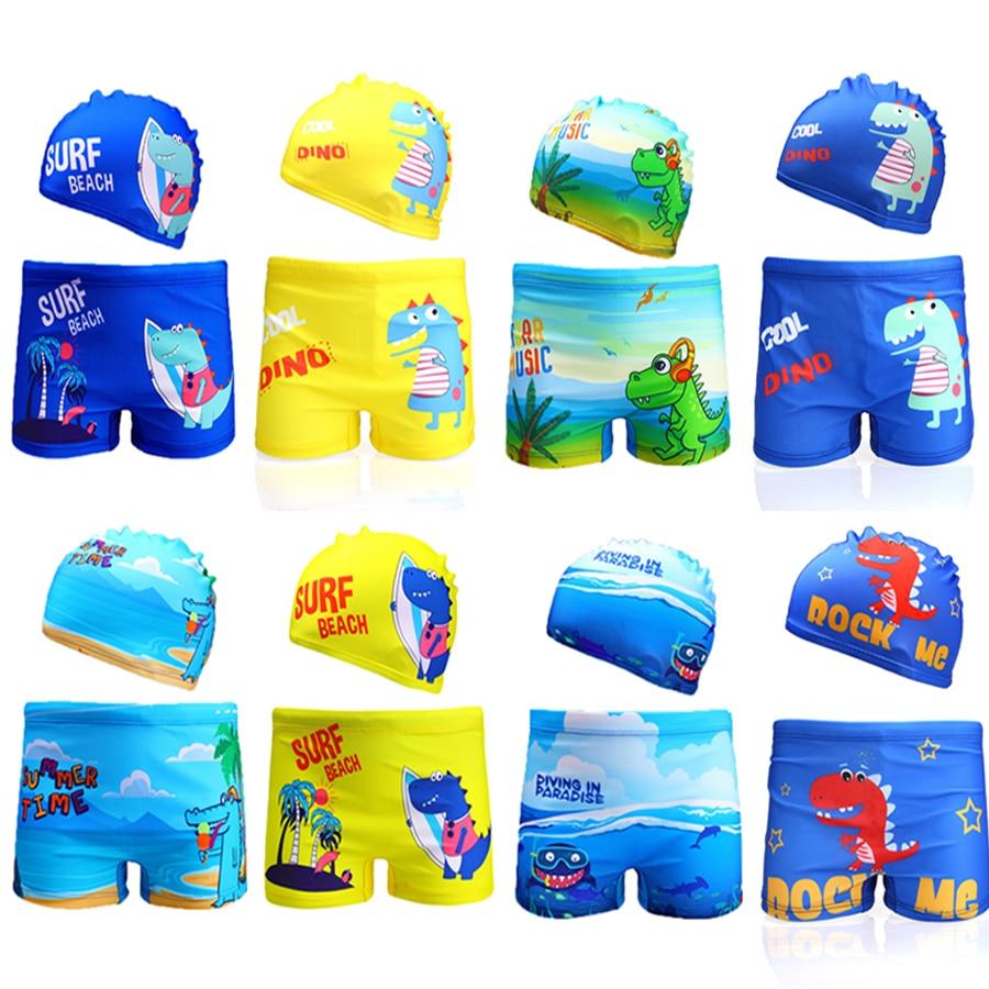 Boys Swimwear 2020 Dinasaur Swimming Trunks For Children Boys 2-8years Boys Trunk Summer Beachwear Boys Swimsuit 1042