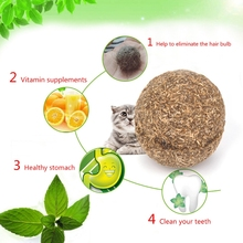 Ball-Coated with Catnip-Toy for Pet Kitten Mint-Ball Funny Nature