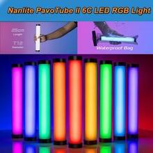 Nanguang Nanlite 6C PavoTube II LED rvb photographie éclairage Tube portable bâton CCT Mode Photo caméra vidéo lumière