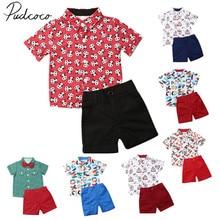Г. Летняя одежда для малышей Топы с принтом замка для маленьких мальчиков, футболка с короткими рукавами, шорты, штаны, наряды одежда Санта-Клауса От 1 до 6 лет