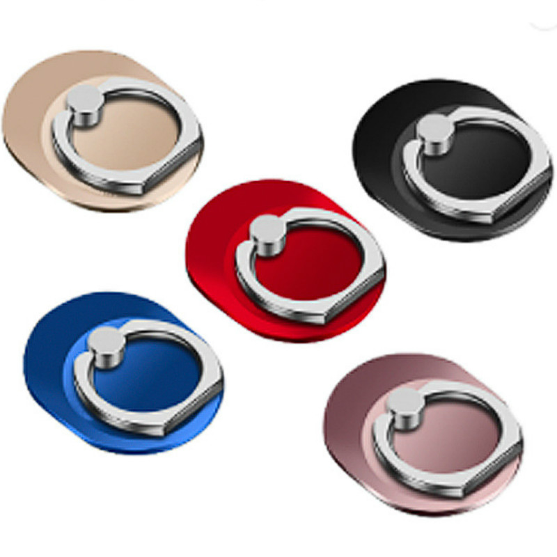 360 Degree Rotation Creative Oval Ring Bracket Metal Ring Buckle Lazy Bracket Mobile Phone Gift Mobile Phone Holders Stands
