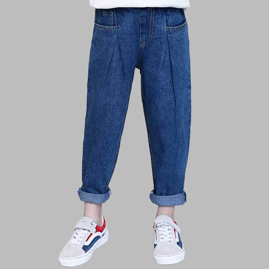 Jeans For Girls Pleated Kid Jeans Girl Harem Pants Children's Jeans Spring Autumn Casual Teenage Girls Clothes 6 8 10 12 14 Year title=