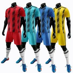 Men's Soccer Jerseys Set Adult 2020 Football Shirt Team Uniform Short sleeve Training Sport Suit Team Uniforms customize Print