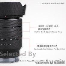 Film denveloppe de décalcomanie de peau de lentille pour Sony FE 16 35 F4 ZA SEL1635Z autocollant étui protecteur anti rayures