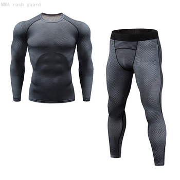 Men's thermal underwear underpants Kit Sports Compression Clothing tracksuit for men Fitness slim joggers base layer set long underwear brand menswear thermal underwear skull 3d pattern printing rashgard kit man tracksuit thermal underwear base layer 4xl