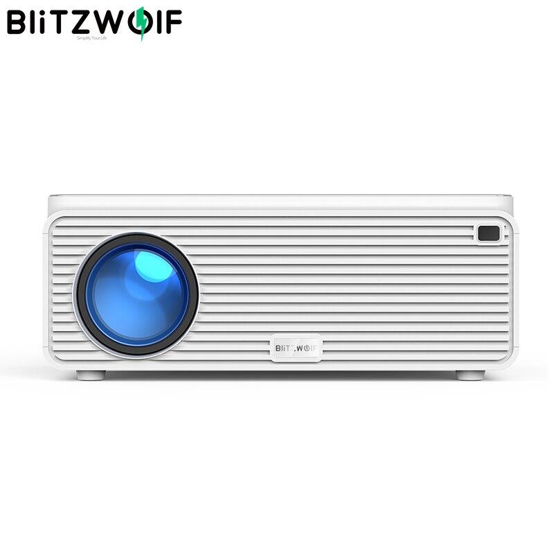 Blitzwolf BW-VP2 LCD Projektor 380 ANSI 6500 Lumen Unterstützung 4K Bild Einstellung HDMI VGA AV Mehrere Ports Home Theatre system
