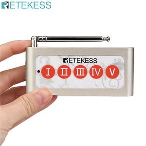 Image 1 - Retekess TD005 5 Key Wireless Calling Bell Pager ปุ่มเครื่องส่งสัญญาณสำหรับ Wireless Calling System สำหรับร้านอาหารร้านกาแฟ