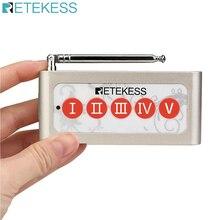 Retekess TD005 transmetteur de bouton dappel de téléavertisseur dappel sans fil à 5 touches pour système dappel sans fil pour Restaurant café Restaurant