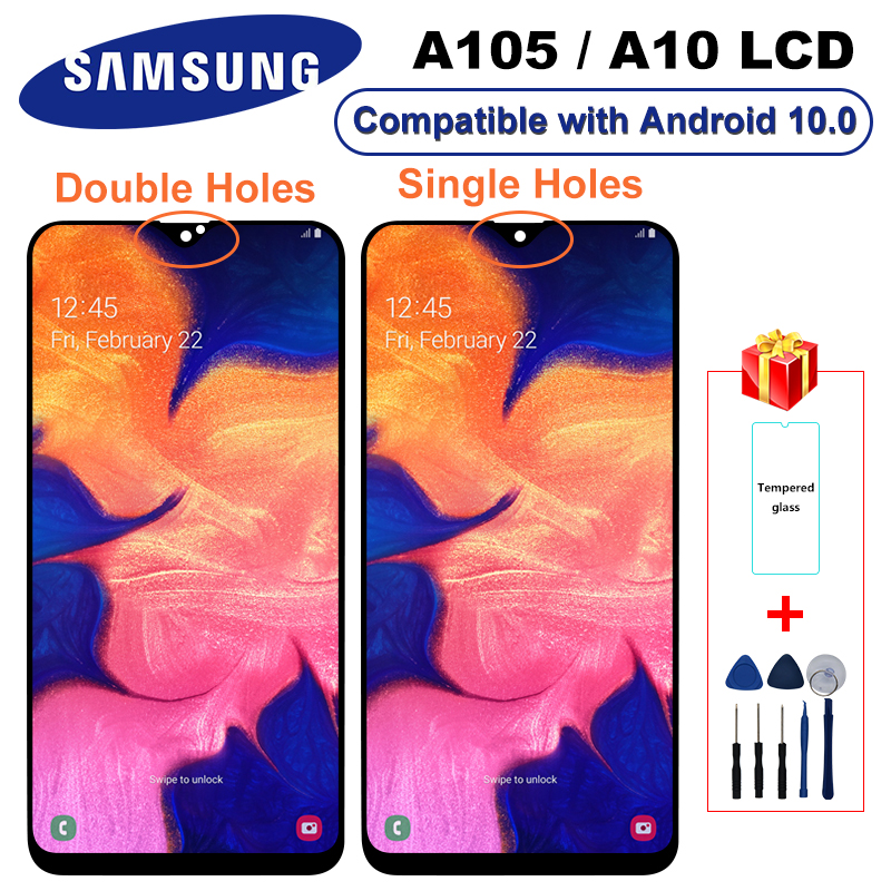 Original For Samsung Galaxy A10 2019 Display A105F A105 /DS SM-A105F A10 LCD Touch Screen Digitizer Display For Galaxy A105 LCD