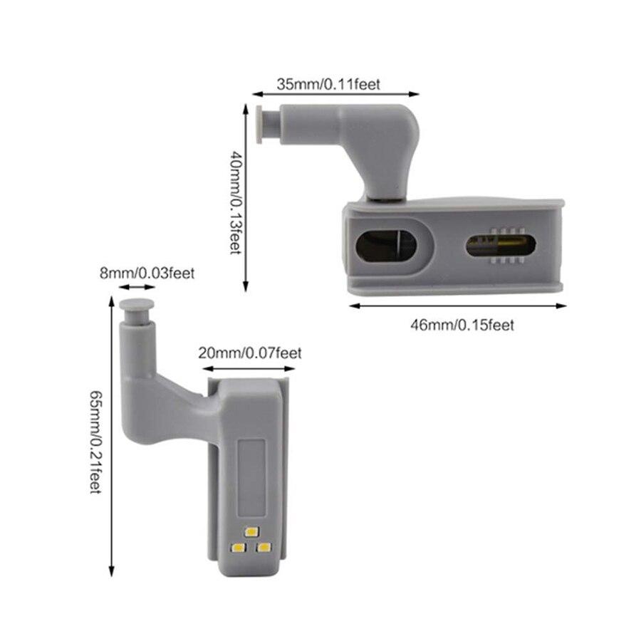 0.25W 3Leds Inner Hinge lamp Under Cabinet Light Universal Wardrobe Light Sensor Led Armario For Cupboard Closet Kitchen Bedroom 4