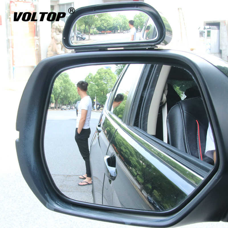 1pcs Car 360 Degree Framless Blind Spot Mirror Wide Angle Round Convex Small Side Blindspot Rearview Parking