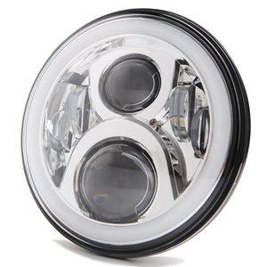 """Image 3 - 2 stücke 7 Inch Runde Halo Led Scheinwerfer für Jeep Wrangler Unlimited JK 7 """"DRL Winkel Augen led Projektor scheinwerfer"""