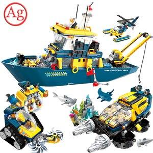 Enlighten Pirate Series Submarine Building Block Compatible Under Water Ship CITY Friends Bricks Kids Toys Constructor