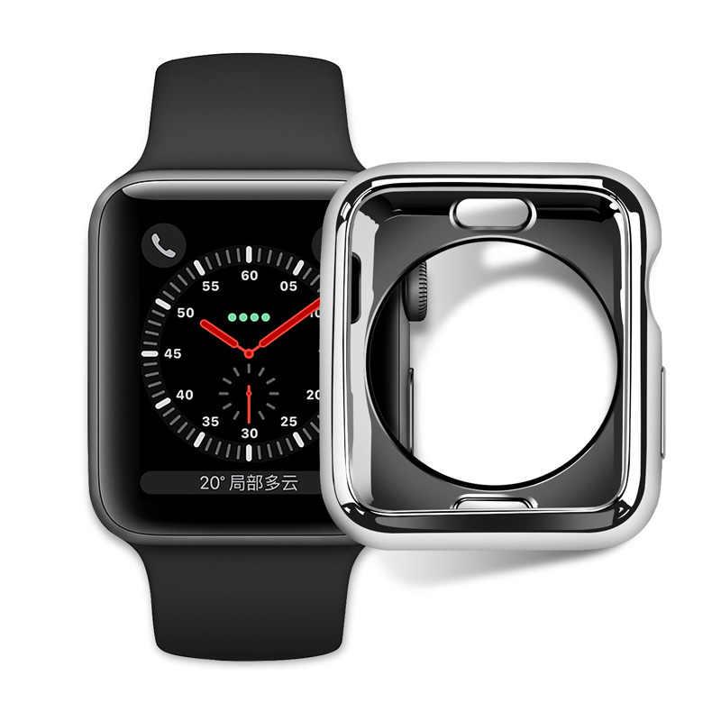 ТПУ бампер для Apple Watch 4 5 Чехол 44 мм 40 мм iWatch Группа 42 мм 38 мм защитный чехол для экрана Apple watch 5 4 3 2 аксессуары