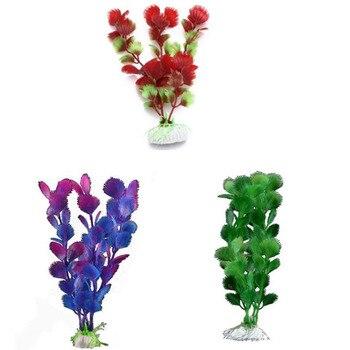 Plantas de acuario de resina decoración de ornamentos simulados paisajismo para pecera hierba maravilla grande