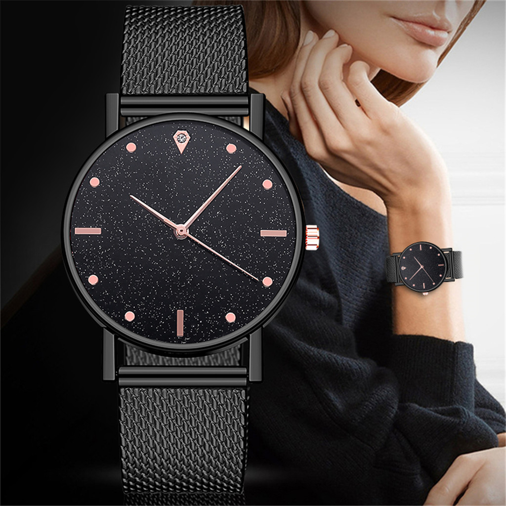 Quartz Movement High Quality Women Stainless Steel Mesh Ladies Watch Dropshipping Montre Femme Zegarek Damski Bayan Kol Saati&50