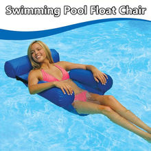 single Inflated sofa aqua blue large size relaxing swimming floating bean bag chair cushion water beanbag sofa bed Pool PartyToy