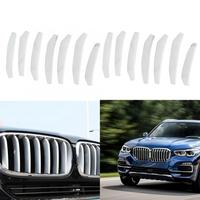 14pcs Car Front Grille Cover Trim Decorative Stickers ABS for X5 2019 ABS Silver Lightweight And Durable Car styling