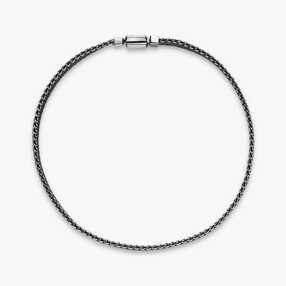 Authentische 925 Sterling Silber Armband Schwarz Woven Mesh Reflexions Armbänder Armreif Fit Frauen Perle Charme Diy Mode Schmuck
