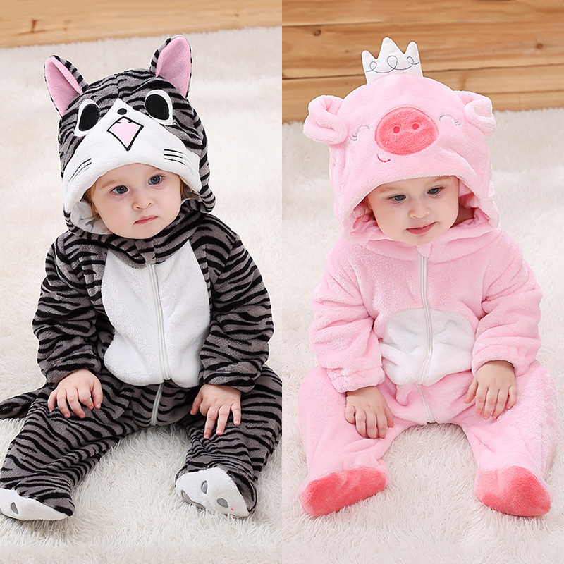 2020 New Arrival Kigurumis Onesie Baby Clothes Pink Pig Romper Infant Baby Carnival Clothing Onepiece Child Kids Costume