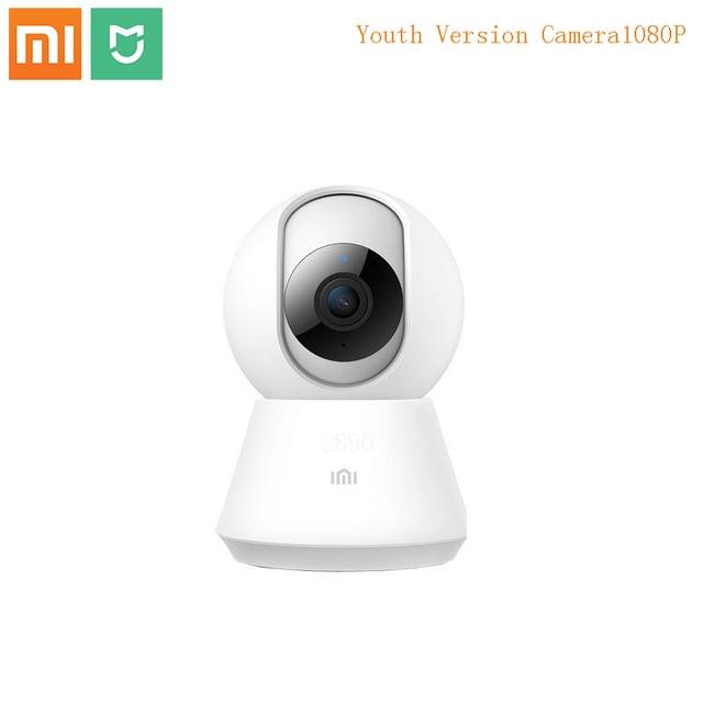 كاميرا مراقبة ذكية من Xiaomi Mijia مع واي فاي و تسجيل فيديو, 1080 بيكسل، ويب كاميرا، رؤية ليلية، أحادي الوجهةكاميرا فيديو 360 درجة