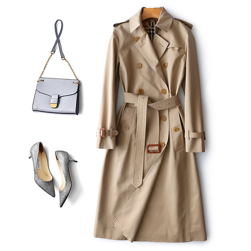 2020 New Style Trendy Female Trench Autumn Spring
