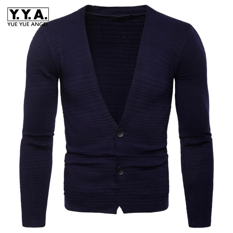 2020 New Arrival Man Cardigan Sweater Fashion Cotton V-Neck Solid Long Sleeve Sweaters For Men Casual Slim Fit Knitted Sweater