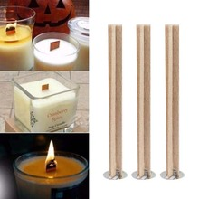 Candle Wicks Core Handmade Natural-Wood DIY for Supply Soy-Parffin-Wax 10pcs