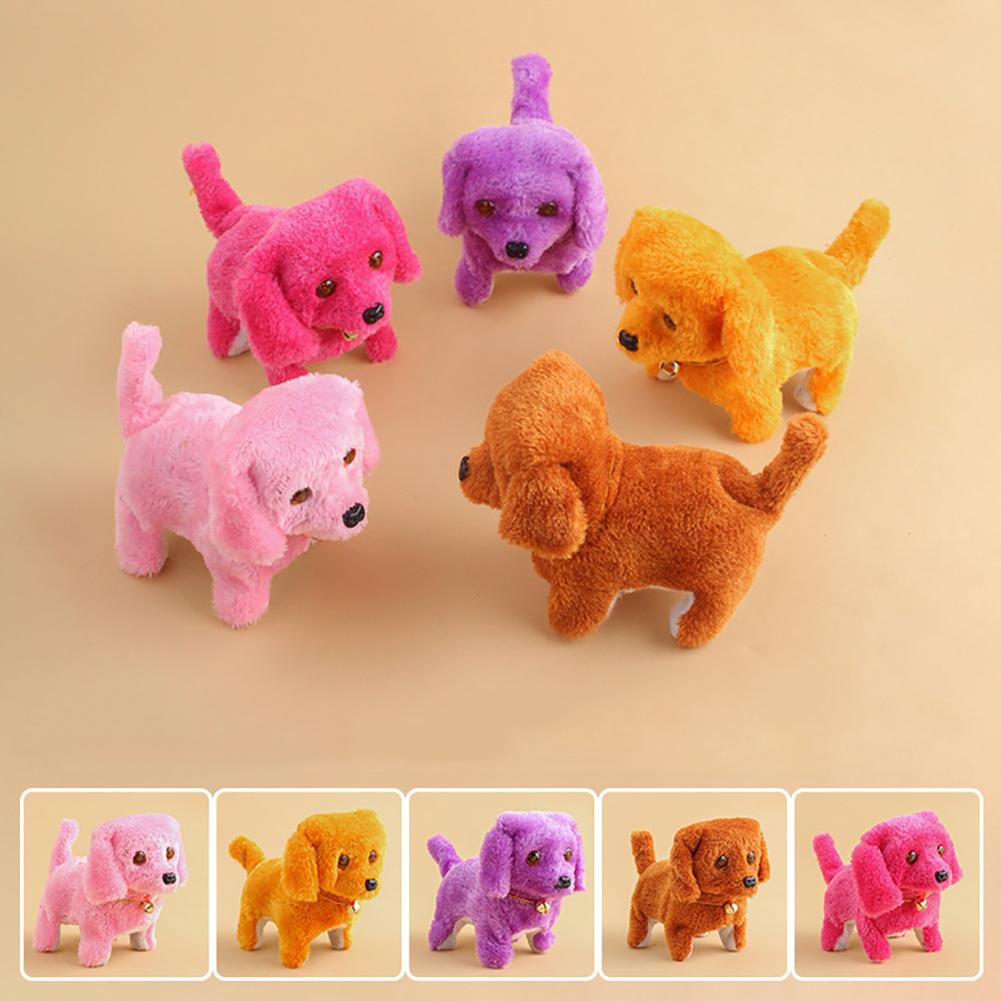 Electronic Walking Plush Colorful Dog Peg Barking Mimicry Interactive Kids Toy Kid Child Christmas Gift Children Tamagochi Dog