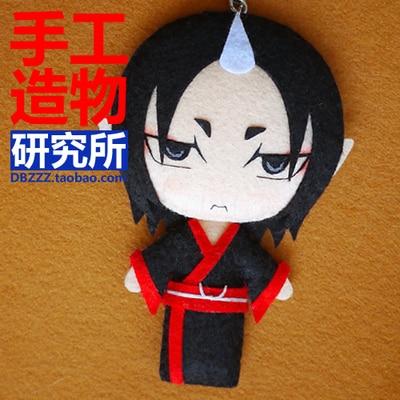 Горячая Распродажа аниме Hoozuki no Reitetsu Косплей DIY игрушка ручной работы подвесной плюшевый подвесной брелок кукла материал косплей реквизит