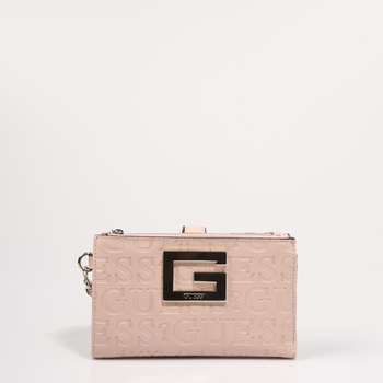 GUESS BAGS WALLET BRIGHTSIDE SLG PEACH SWVD75 80570 pink leatherette-pink WALLET 72011