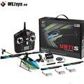 WLtoys V911S 2 4G 4CH 6-Aixs гироскоп Flybarless RC Вертолет Модель rtf игрушки w/ 4 шт 3 7 V 250MAh Lipo батарея