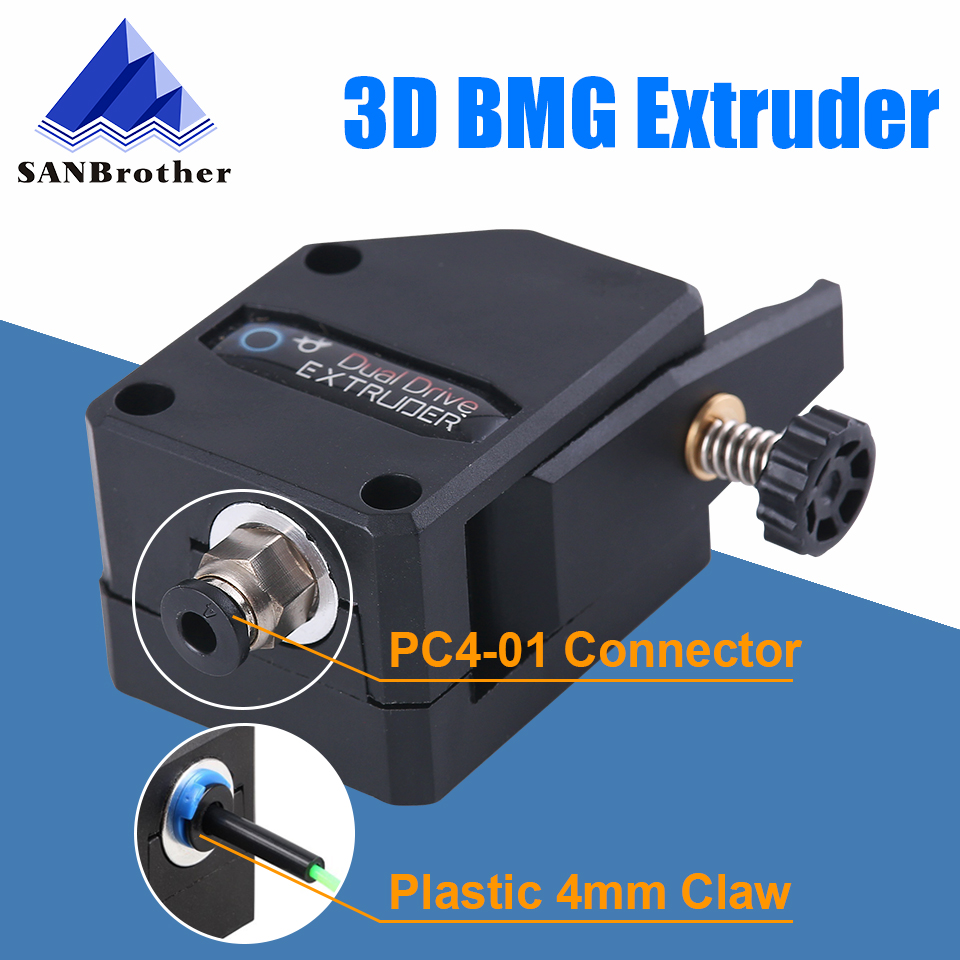 3D Printer Parts BMG Extruder Cloned Btech Dual Drive Extruder Bowden Extruder Filament Dual Gear For