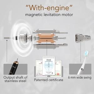Image 2 - Spazzolino elettrico ricaricabile Seago spazzolino sonico per adulti denti puliti in profondità con 3 testine spazzola per cure odontoiatriche 986