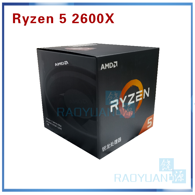 AMD Ryzen 5 2600X R5 2600X 3.6 GHz Six-Core Twelve-Thread 95W CPU Processor YD260XBCM6IAF Socket AM4 With Cooler Cooling Fan