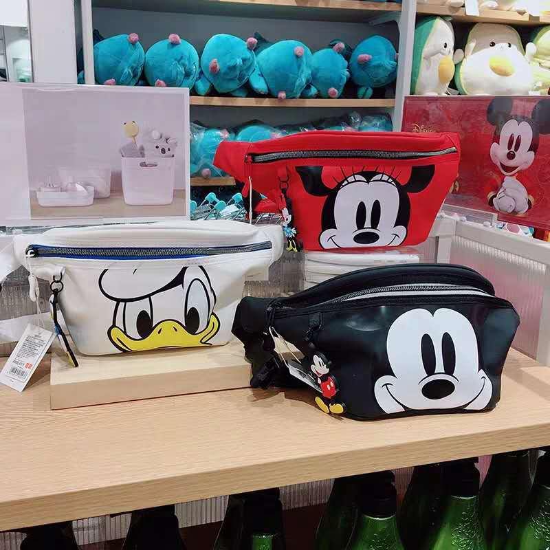 Disney's New Mickey Men And Women Belt Bag Mickey Mouse Shoulder Bag Chest Bag Boys Girls Handbag