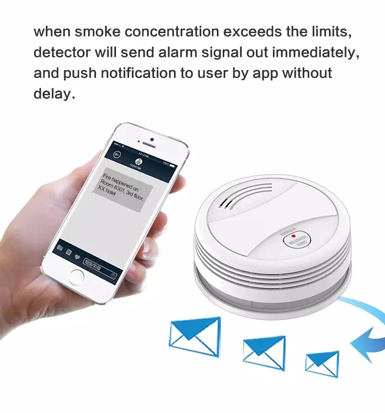 Image 5 - Wifi Smoke Detector Wireless Fire sensor Protection Tuya APP Control Office/Home Smoke Alarm  rookmelderSmoke Detector   -