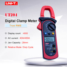 Digital Clamp Meter Multimeter UNI-T UT204 professional True-RMS LCD multifunction  Ohm DMM DC AC Voltmeter AC Ammeter Data Hold new holdpeak hp 870n ac dc digital clamp meter multimeter pinza voltage amperimetro true rms frequency multi meter data hold