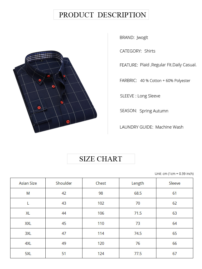 H53486a54a38b46808bebf602f799937ah Handsome Fashion Men Shirts Casual Long Sleeved Plaid Shirt Regular Fit Male Blouse 4XL 5XL