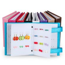 Fashion Women Stud Earrings Display Holder Creative Jewelry Storage Box Book Style Jewellery Showing Stand T4MD