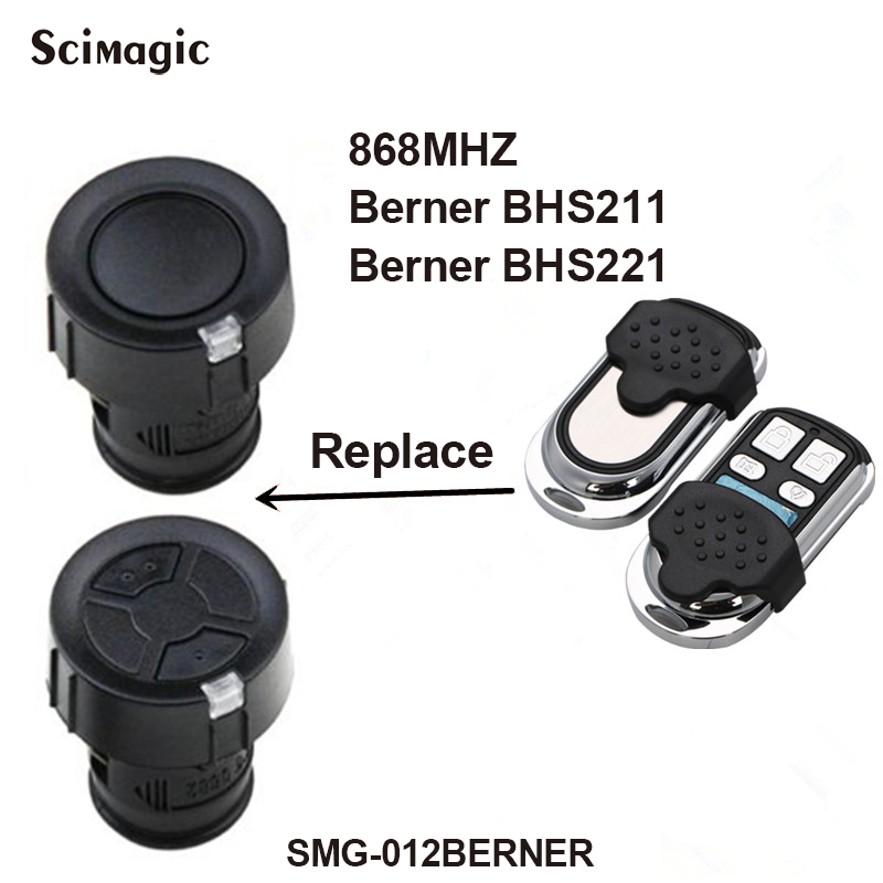 BERNER BHS211 BHS221 868mhz Remote Control For Garage Door Gate