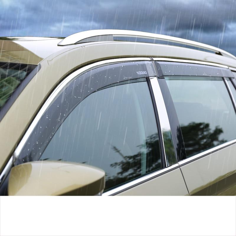 For SKODA KAROQ 2017 2018 Rearview Side Mirror Garnish Cover Trim 2pcs ABS