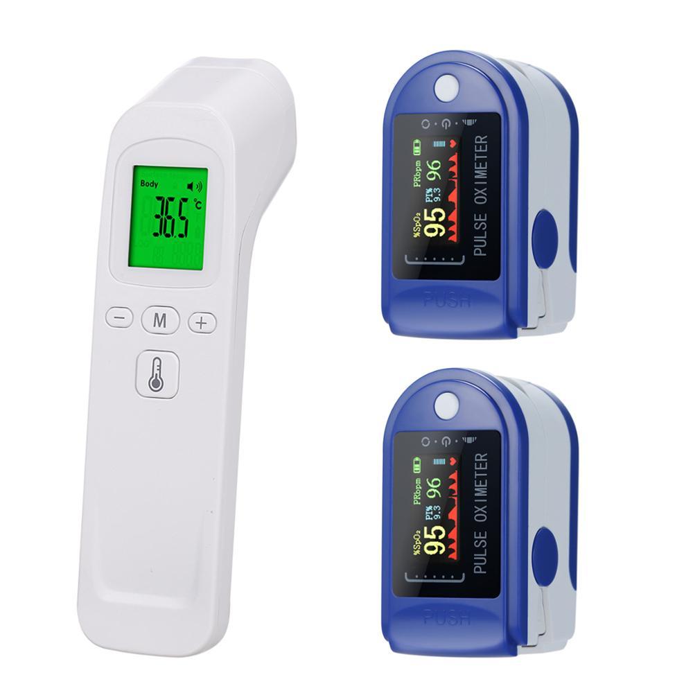 Цифровой инфракрасный ЛОБНЫЙ термометр pulsoksymetr, Пульсоксиметр на кончик пальца, датчик насыщения крови кислородом, монитор SpO2