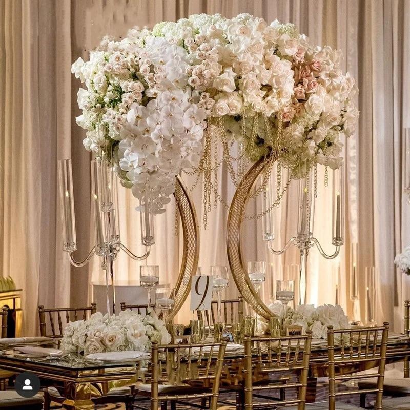Metal Table Centerpieces Flower Stands Flower Arrangement Stands For Wedding Party Diy Decorations Aliexpress