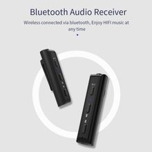 Bluetooth 4.2 Receiver Pen Clip Headphone Adapter for iPhone Xiaomi Handsfree Wireless Music Adapter for Wired Headsets(China)