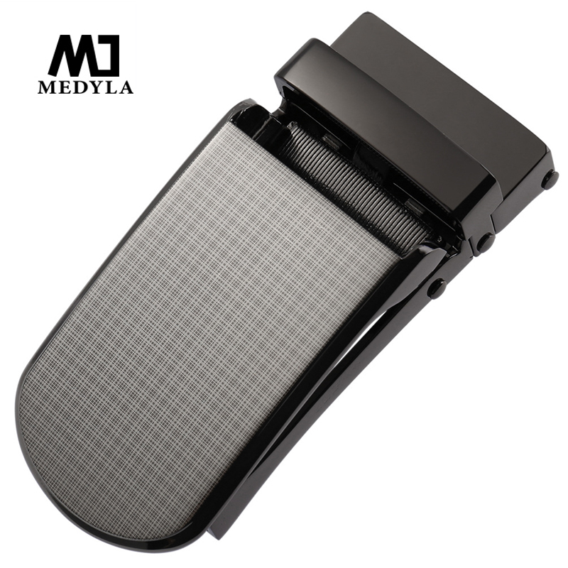 MEDYLA Hard Metal Belt Buckle Men's Automatic Buckle Beautiful Luxury Pattern Quick Release Buckle Design Inner Diameter 3.3cm