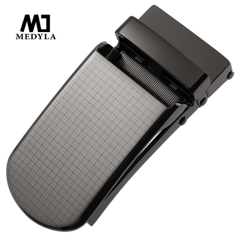 MEDYLA Hard Metal Belt Buckle Men's Automatic Buckle Beautiful Luxury Pattern Quick Release Buckle Design Inner Diameter 3.3cm