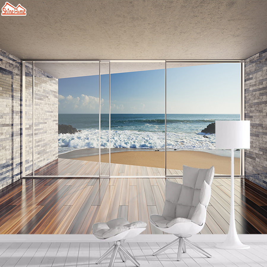 3d Wallpaper Mural Wallpapers For Living Room Wall Paper Papers Home Decor Sea View Interior Self Adhesive Walls Murals Roll Art